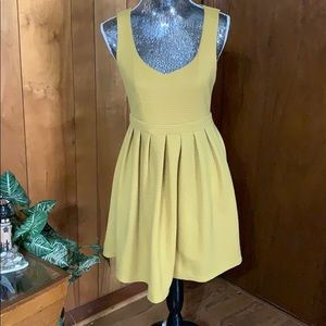 Ya los angel mustard yellow rib casual dress